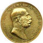 austrian corona in gold
